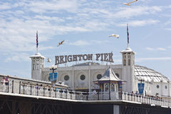 Brighton Beach Pier - London Royalty Free Stock Photos
