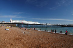 Brighton Beach and Pier in summer Royalty Free Stock Photos