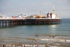 Brighton Beach and Pier in summer Stock Photo