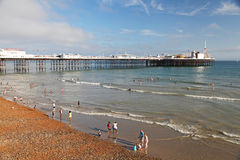 Brighton Beach and Pier in summer Royalty Free Stock Image