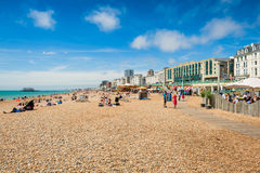 Brighton beach promenade Royalty Free Stock Photography