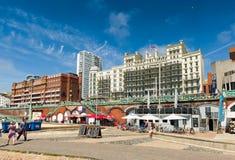 Brighton beach promenade Royalty Free Stock Photography