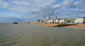 Brighton Beach, quay and West Pier, Brighton Royalty Free Stock Photos