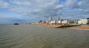 Brighton Beach, quay and West Pier, Brighton Royalty Free Stock Photos