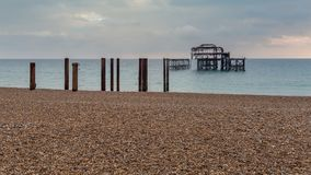 Brighton West Pier, East Sussex, UK stock images