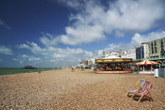 Brighton beach seaside summer sky uk Royalty Free Stock Photography