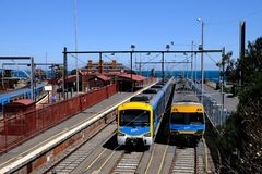 Brighton Beach Station à Melbourne, Australie photos stock