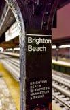 Brighton Beach Subway Station Stock Photography