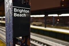 Brighton Beach Subway Station Stock Images