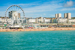 Brighton beach. On sunny day. August 2014, England Stock Photo