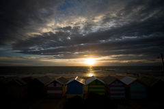 Brighton Beach at Sunset Royalty Free Stock Photo