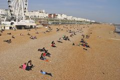 Brighton beach. Sussex. England Royalty Free Stock Photography