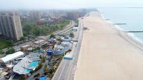 Brighton Beach visuel aérien NY clips vidéos