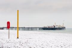 Brighton beach in winter Royalty Free Stock Photos