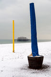 Brighton beach in winter Stock Photography