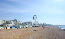 Brighton Beachfront. With Ferris Wheel Stock Image