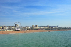 Brighton Beachfront. With view of its Ferris Wheel. For articles about British tourism or resorts in general Royalty Free Stock Photos