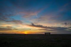 Brighton bench sunrise Stock Images