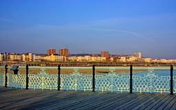 Brighton City View. With its mix of modern and old buildings from the Pier Stock Photo