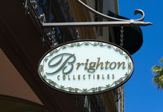 Brighton Collectibles Store and Sign Royalty Free Stock Photography