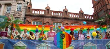 Brighton College Pride Supporters royalty free stock images