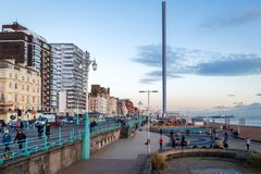 BRIGHTON, EAST SUSSEX/UK - JANUARY 26 : View of the Seafront in stock images