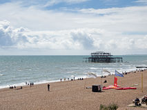 BRIGHTON, EAST SUSSEX/UK - MAY 24 : View of the derelict Pier in Stock Images