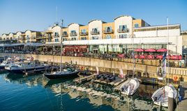 BRIGHTON, EAST SUSSEX/UK - NOVEMBER 1 : Boats in the Marina in B royalty free stock photography