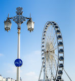 BRIGHTON, EAST SUSSEX/UK - NOVEMBER 1 : Street Lamp and Ferris W Stock Photography