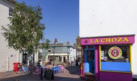 Brighton East Sussex UK sommartidkafé Arkivbild