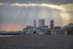 Brighton East Sussex UK summertime Dramatic sky Royalty Free Stock Photos