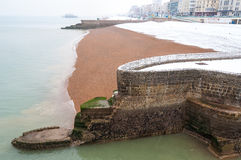 Brighton en hiver photographie stock libre de droits