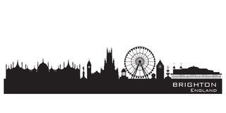 Brighton England city skyline. Detailed silhouette vector illustration