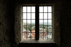 Free Brighton, England - October 3, 2018: Inside Of Lewes Castle, East Sussex County Town With Old Windows And House, City Town Royalty Free Stock Photography - 133984127