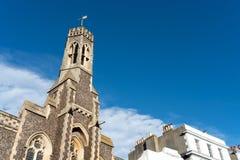 Brighton, England-6 Październik, 2018: W ten kościół poprzedni znać jako trójcy kaplica Frederick W robertson Stary rocznik fotografia royalty free