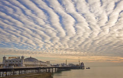 Brighton England Pier with beautiful sunset Royalty Free Stock Photography