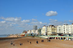 Brighton England - The Seafront in Spring Royalty Free Stock Images