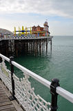 Brighton England - View of Brighton Pier Amusement Arcade & Ente Royalty Free Stock Photography