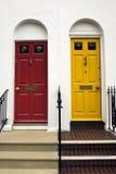 brighton färgade dörrar Arkivbilder