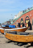 Brighton Fishing Museum boats on Brighton Beach. Stock Photos