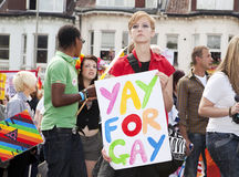 Brighton gay pride parade celebration Stock Photos