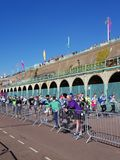 Brighton Half Marathon 2018. Brighton Half Marathon is one of the oldest and most popular marathons held in the UK Stock Images