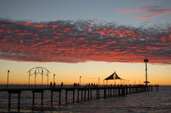 Brighton Jetty Sunset. Twilight at Brighton, Adelaide, South Australia royalty free stock photography