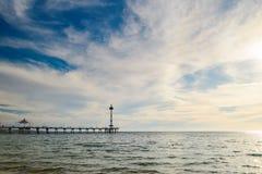 Brighton Jetty, Zuid-Australië Stock Foto's