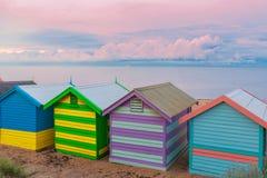 Brighton kąpania mali domy, Australia Fotografia Stock