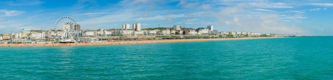 Brighton kustpanorama Arkivbild