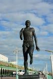 Brighton-Läuferstatue von Steve Ovett Stockbild
