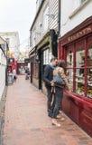 Brighton Lanes, het UK royalty-vrije stock afbeeldingen
