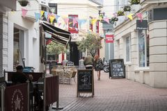 Brighton Lanes UK arkivfoto
