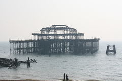 Brighton - le pilier occidental photographie stock